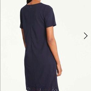 5d25f77a1f383 Ann Taylor Dresses | Nwot Eyelet Hem Tshirt Dress | Poshmark